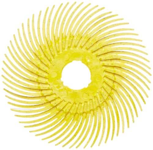 Scotch-Brite(TM) Radial Bristle Disc Thin Bristle, Cubitron Grain, 20000 rpm, 3 Diameter, 80 Grit, Yellow (Pack of 40) by Scotch-Brite