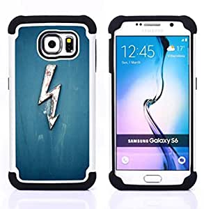 """Hypernova Híbrido Heavy Duty armadura cubierta silicona prueba golpes Funda caso resistente Para Samsung Galaxy S6 / SM-G920 [Tensión Electricidad Blue Lightning Ac Dc alta""""]"""