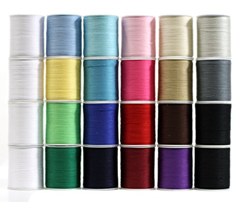 Polyester Sewing Thread 24 Spools Multi Colored 200