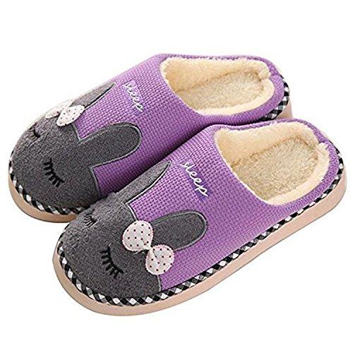 Slipper Fourrure Des À D'hiver L'intérieur Des Chaud Violet Faux Hommes Maison Coton En Pour Pantoufles Chaussures Femmes Saguaro Les Peluche Antidérapantes xvnwAqIY7z