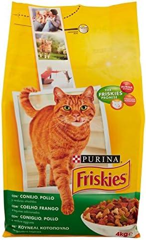 Purina - Friskies Adulto Gato con Conejo, Pollo y Verduras - 4 kg: Amazon.es: Productos para mascotas