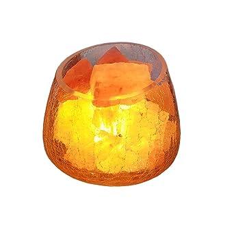 Lampe De Sel Himalaya En Cristal Naturelle Creatif Lampe A Sel