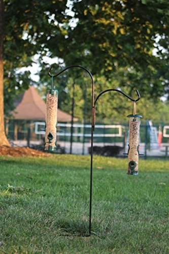 Ashman Shepherd Hook Two Sided 46 Inches, Made of Premium Metal, Super Strong and ideal for Bird Feeders, Plant Hangers, Coconut Shell Hanging Baskets, Lanterns and Wind Chimes and more! by AshmanOnline