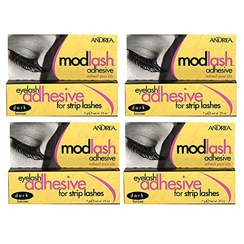 Andrea ModLash Eyelash Adhesive For Strip Lashes Dark 0.25 oz (Pack Of 4)