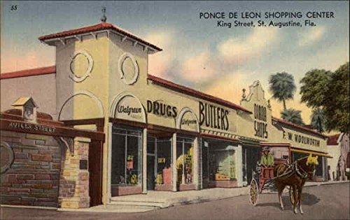 Ponce De Leon Shopping Center St. Augustine, Florida Original Vintage - St Shopping Augustine