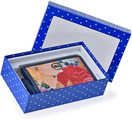 Estuche Regalo Monedero con Cremallera Piel Grabado Serpiente Mujer Victorio y Lucchino Azul 331: Amazon.es: Equipaje
