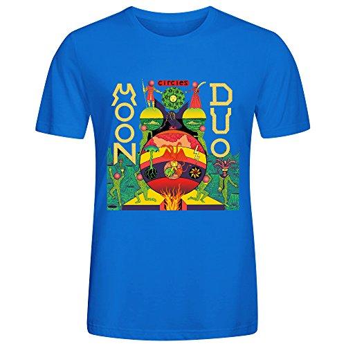 Moon Duo Circles Tee Shirts For Men Blue