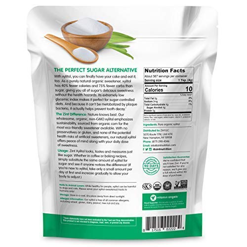 Organic Xylitol Sweetener XL (5 lbs): Keto Friendly, Low-Carb, Low-Calorie, USDA Organic Natural Sugar Substitute, Non GMO, Low Glycemic Index, Measures & Tastes Like Sugar by Zint (Image #7)