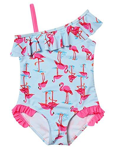 Jxstar Girl Swimsuit Cute One Piece Swimwear Kid Ruffle Sun ()