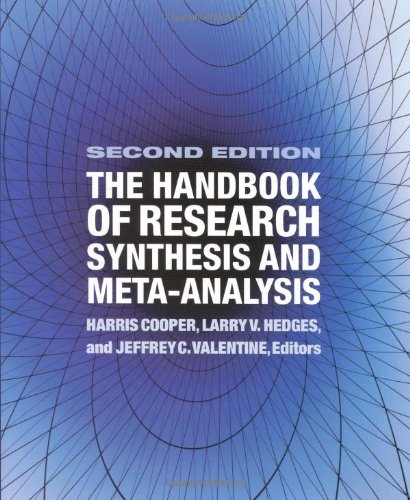 The Handbook of Research Synthesis and Meta-Analysis (Applied Meta Analysis For Social Science Research)