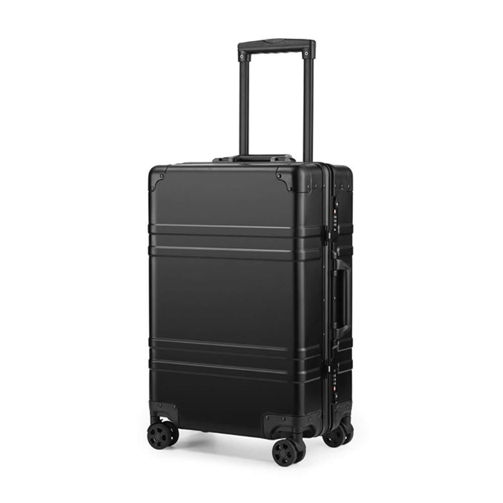 Carro universal de aleación de magnesio de aluminio de 20 pulgadas con rueda de metal y chasis de aluminio, maleta especial para viajes de negocios: ...