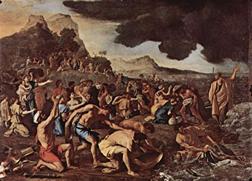 Home Comforts Peel-n-Stick Poster of Poussin, Nicolas - The Crossing of The Red Sea Vivid Imagery Poster 24 x 16 Adhesive Sticker Poster Print (The Crossing Of The Red Sea Poussin)