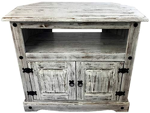 - Brazilfurniture Corner TV Rio Shabby Look Oak Solid Pine Wood Vintage Modern Kitchen Living Room