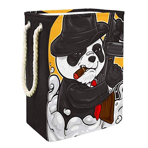 Kids Storage Basket Funny Panda Toy and Accessory Storage Bin Collapsible Organizer Storage Basket for Home Décor 19…