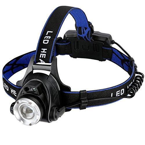 Zredurneyヘッドライト USB充電式 18650バッテリー付き センシング付き 夜釣り 工事 作業適用