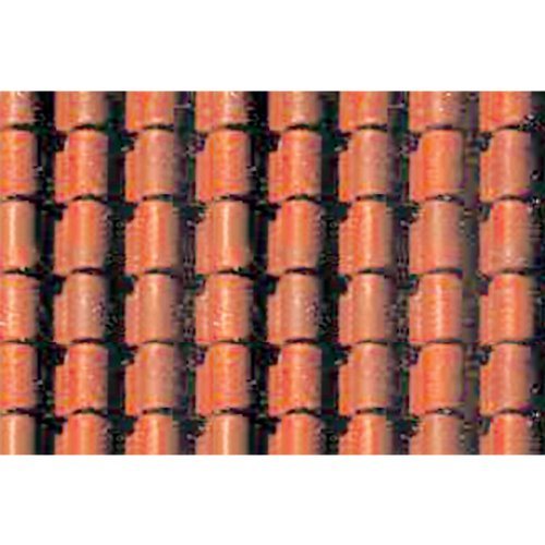 JTT Scenery Products Plastic Pattern Sheets: Spanish Tile (Roofing Tile Plastic)