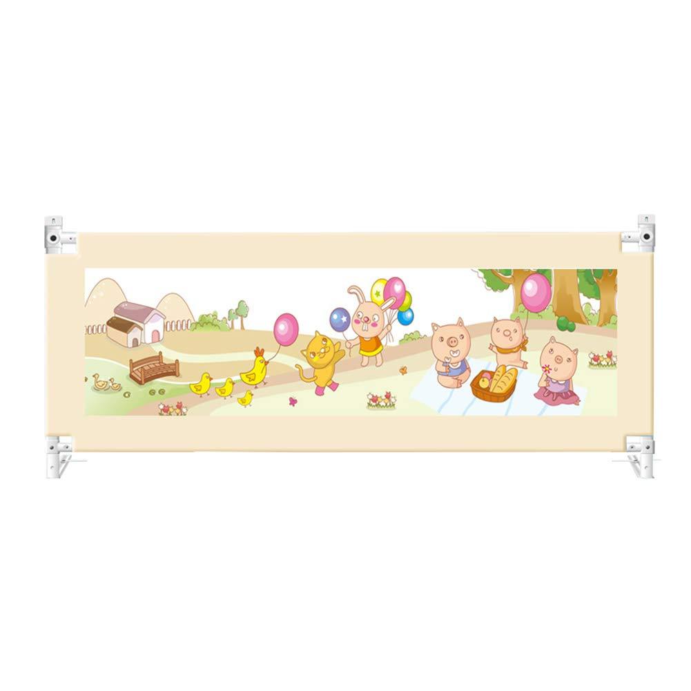 ベッドフェンス 幼児の安全ベットレスのレールガード、幼児のベビーベッドのフェンスのためのポータブル (サイズ さいず : Length 200cm) Length 200cm  B07KG7QSTL