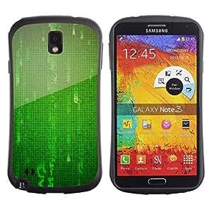 """Pulsar iFace Series Tpu silicona Carcasa Funda Case para Samsung Note 3 , Números Mandarín digital virtual de ciencia ficción"""""""