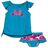 Sun Smarties Butterfly Tankini and Reusable Cloth Absorbant Swim Diaper Skirt