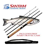 "Santiam Fishing Rods Travel Rod 4 Piece 7'6"" 8-17lb MF Graphite Spinning Rod with Hard Case Review"