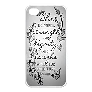 ebaykey Custombox Proverb 31:25 Best Durable Silicone Case Cover for iPhone 4 4S