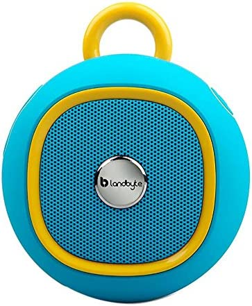 LANDBYTE LB-270 Blue Round Outdoor Portable Waterproof Bluetooth Speaker Amplifier 4.0 – Super Bass Player -USB Support High-Speed Data Transmission