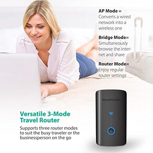 RAVPower FileHub Plus, Wireless Travel Router, SD Card Reader USB Portable Hard Drive Companion, DLNA NAS Sharing Media Streamer 6000mAh External Battery Pack (Not a Hotspot) by RAVPower (Image #2)