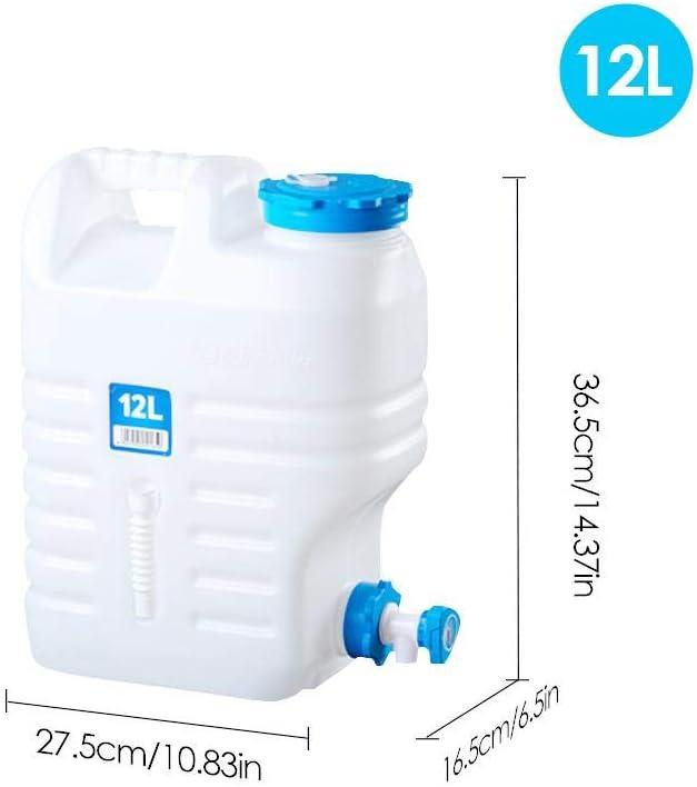 QUUY Envase Plegable del Agua Que acampa, Cubo portátil Seguro Material del PE con el Grifo, envase Grande del Agua del Barril de Cerveza portátil del Coche de la Capacidad Grande