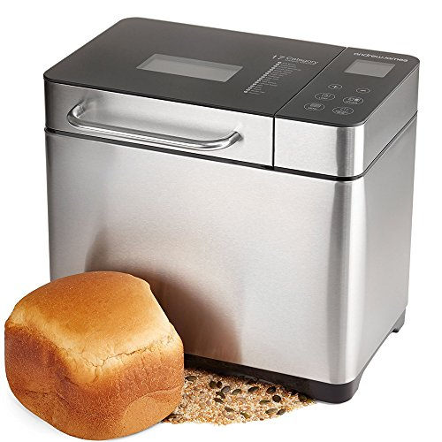 Andrew James Breadmaker with 17 Preset Functions & Automatic Ingredients Dispenser   Fresh Bake Digital Bread Maker with Gluten-Free & Sourdough Settings   Delay Timer & Keep Warm