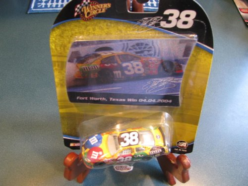 2004 Elliott Sadler #38 Ford MMs Texas Win April 2004 Raced Win Version Paint Scheme Winners Circle 1/64 with Foil Card Insert