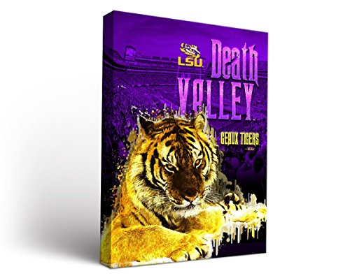 Victory Tailgate Louisiana State LSU Tigers Canvas Wall Art Acrylic Death Valley Design (24x36)