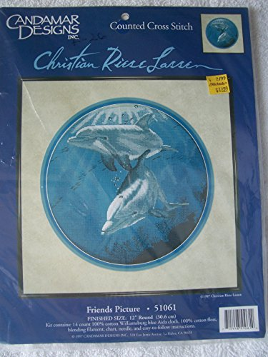 - Candamar Designs Counted Cross Stitch Kit Dolphin Friends Christian Riese Lassen