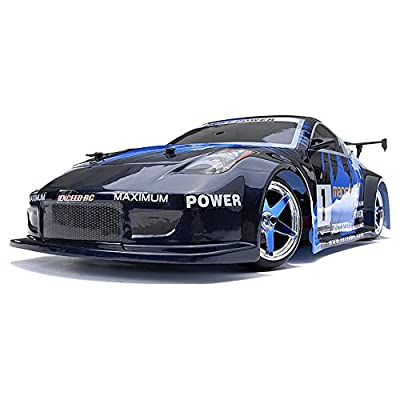 1/10 Scale Exceed RC MadSpeed Electric Powered Drift Car 350 Style Fire Blue