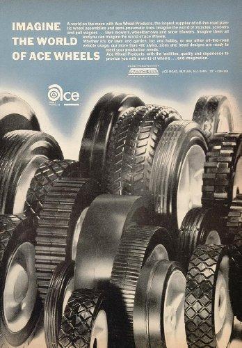 1971 Ad Ace Plastic Wheels Toy Wagon Scooter Trike Tire - Original Print Ad