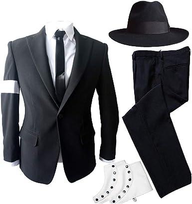 Amazon Com Mj Michael Jackson Peligroso Bad Tour Disfraces Traje Negro Completo Atuendo Para Prefromance Fiesta Regalo Clothing
