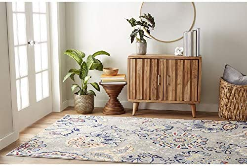 Home Dynamix Tremont Lincoln Transitional Area Rug, Floral Gray 5 3 x7 2