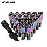 Honishen Racing Car Wheel Bolt/Neo Chrome/14x1.5 Thread Size (14x1.5, Purple)