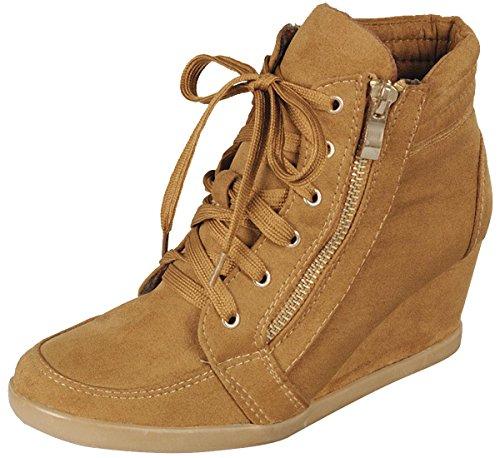 Cambridge-Select-Womens-Lace-up-Zipper-Wedge-Fashion-Sneaker