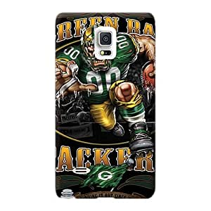 Durable Hard Cell-phone Cases For Samsung Galaxy Note 4 With Provide Private Custom Nice Green Bay Packers Series Icase88