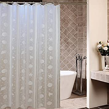 ZnzbztShower Curtain Thick Waterproof Mildew Resistant Toilet Shower Curtain  Bathroom With Bath Shower Curtain Woven Toilet