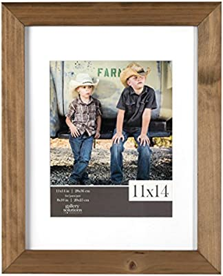 Amazon Com Gallery Solutions 11x14 Flat Ash Wood Wall Picture Frame With White Mat For 8x10 Image Home Kitchen