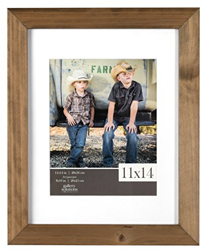 Gallery Solutions 11x14 Flat Ash Wood Wall Picture Frame with White Mat For 8x10 Image by Gallery Solutions (Image #4)