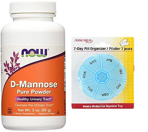 Amazon.com: AHORA D-Mannose en polvo, 3 onzas con gratis 7 días plástico píldora organizadores: Health & Personal Care