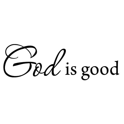 Amazon.com: God is Good Wall Decal Inspirational Quote Bible ...