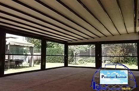 MOSCHITELLA - Toldo transparente con caída, de PVC, hecha a medida ...