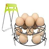 2 Pack Egg Steamer Rack, Umiwe Stainless Steel Upgraded Egg Cooker Stackable Steamer Rack Trivet for Instant Pot and Pressure Cooker
