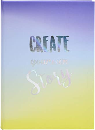 Livre dor Candy Blue 100 pages blanches 27x22cm vertical