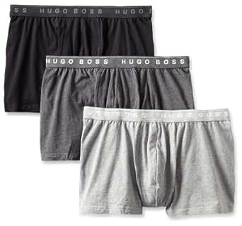 BOSS HUGO BOSS Men's 3 Pack Assorted Boxers, Black/Light Grey/Charcoal, Medium