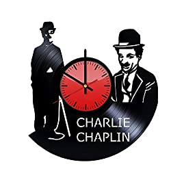 Charlie Chaplin English Comic Actor Vinyl Record Wall Clock - Original Gift Idea for Him or Her - Cool Home Decor Wall Art