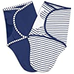 Baby-Layette-Gift-Set-Navy-Blue-Sleep-Bag-Swaddles-Bodysuit-Hat-Blanket